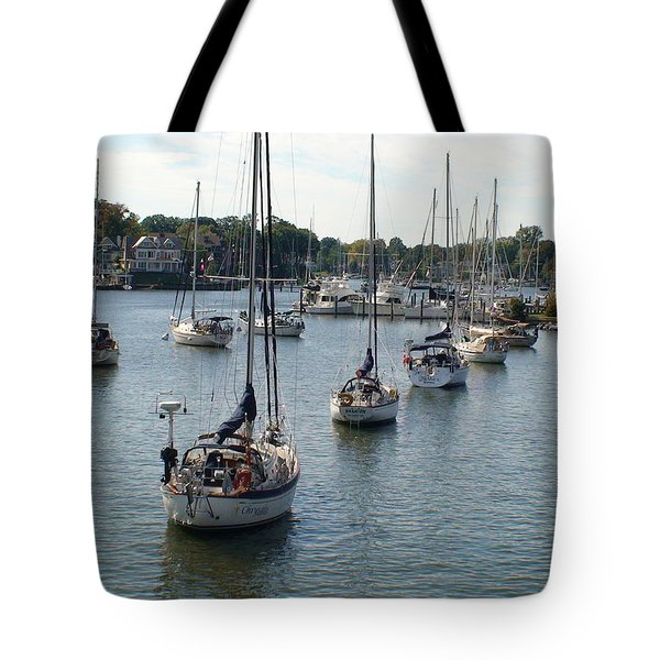 Tote Bag featuring the photograph At Anchor by Charles Kraus