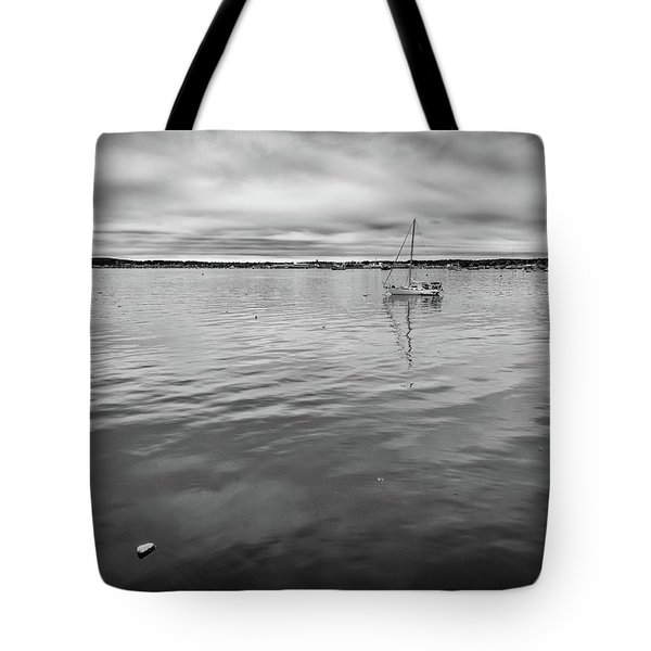 At Anchor In The Harbor Tote Bag