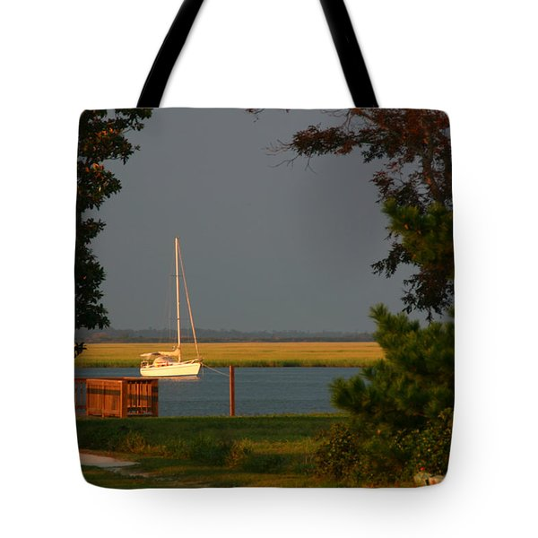 Tote Bag featuring the photograph At Anchor by Phil Mancuso