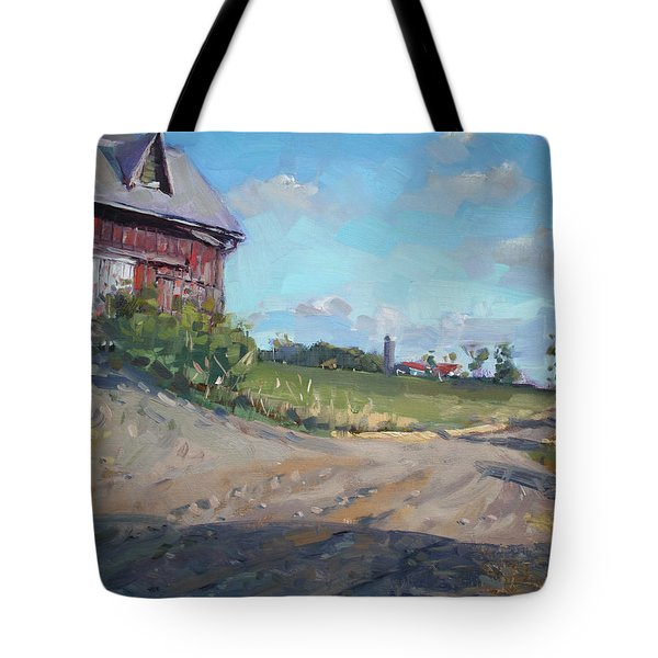 At Barn In Georgetown On Tote Bag