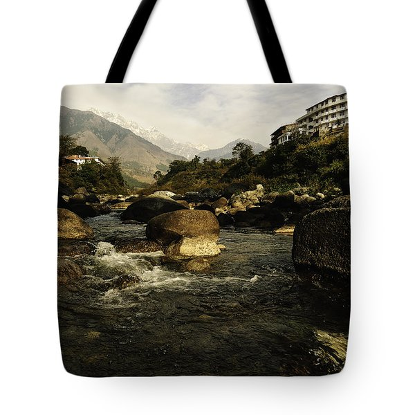 At Chamunda Tote Bag by Rajiv Chopra