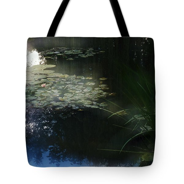 Tote Bag featuring the photograph At Claude Monet's Water Garden 3 by Dubi Roman