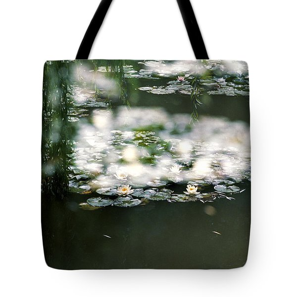 Tote Bag featuring the photograph At Claude Monet's Water Garden 5 by Dubi Roman