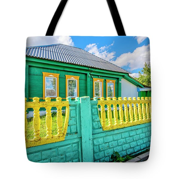 At Home In Belarus Tote Bag