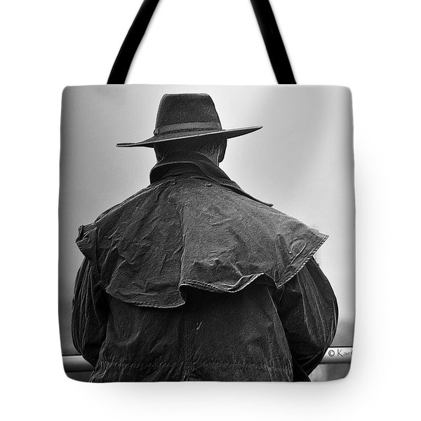 At Home On The Range #3 Black And White Tote Bag