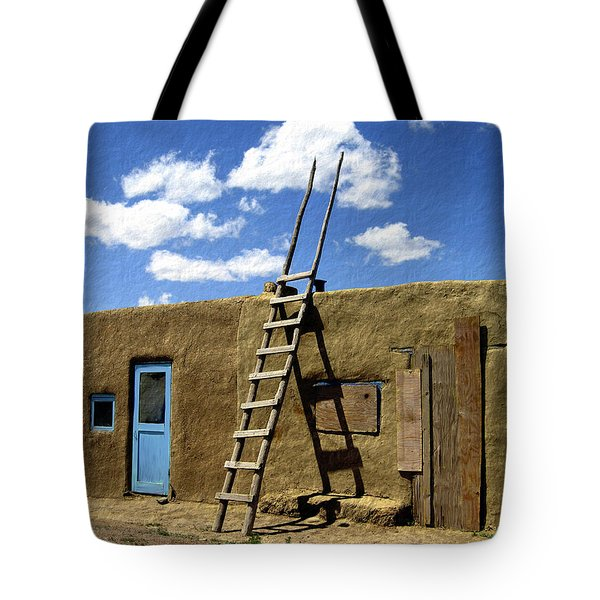 At Home Taos Pueblo Tote Bag by Kurt Van Wagner
