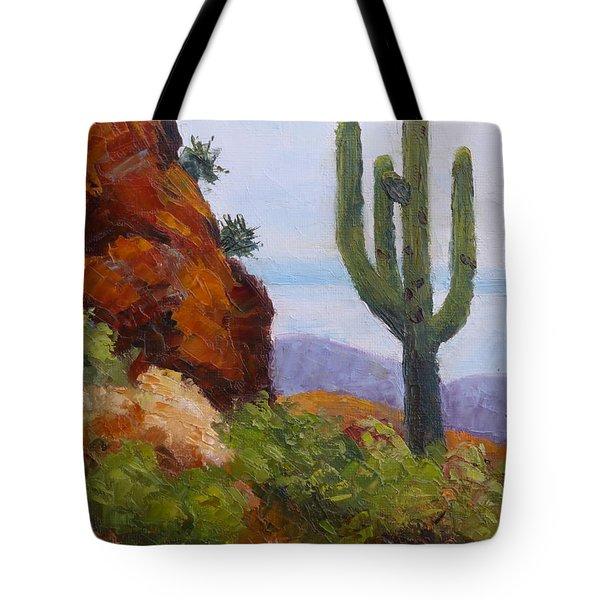 At Javelina Rocks Tote Bag