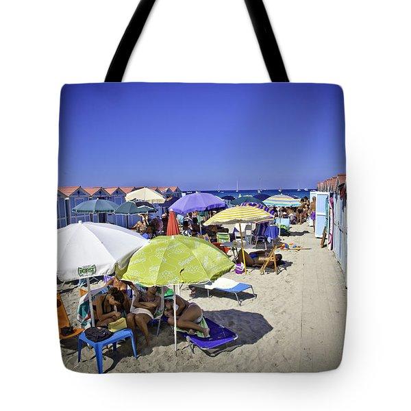 At Mondello Beach - Sicily Tote Bag by Madeline Ellis