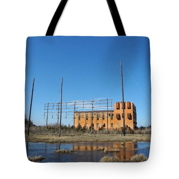 At N T Long Lines Historic Site Tote Bag by Sami Martin
