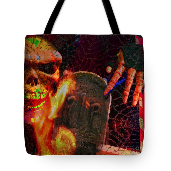 At Night In The Graveyard Tote Bag