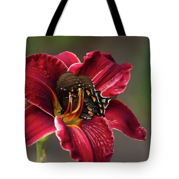 At One With The Orchid Tote Bag