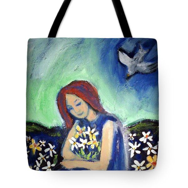 Tote Bag featuring the painting At Peace by Winsome Gunning
