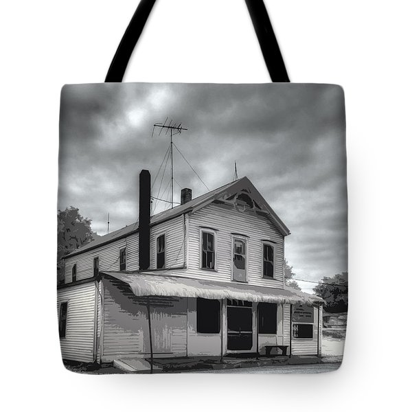 Tote Bag featuring the digital art At Peers Bluff Road by William Fields