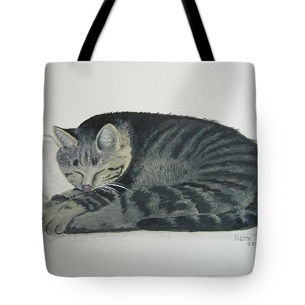 Tote Bag featuring the painting At Rest by Norm Starks