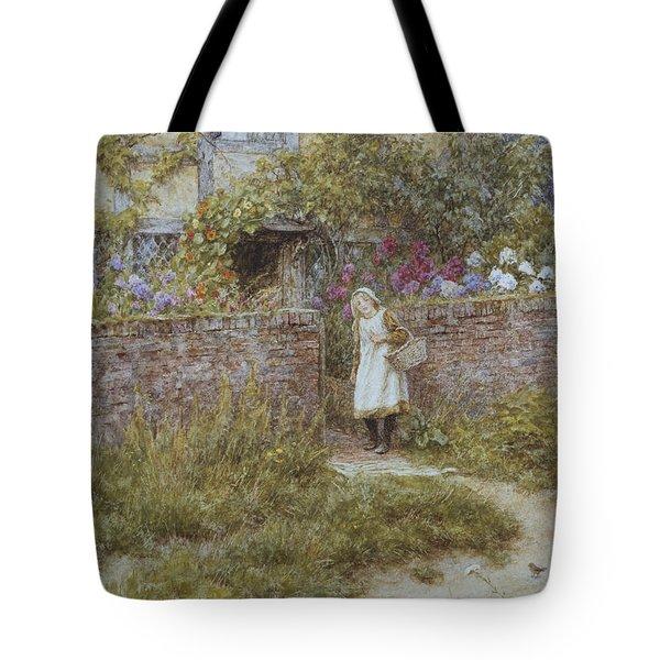At Sandhills Tote Bag by Helen Allingham