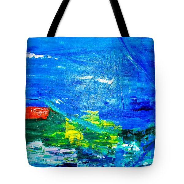 Tote Bag featuring the painting At Sea by Piety Dsilva
