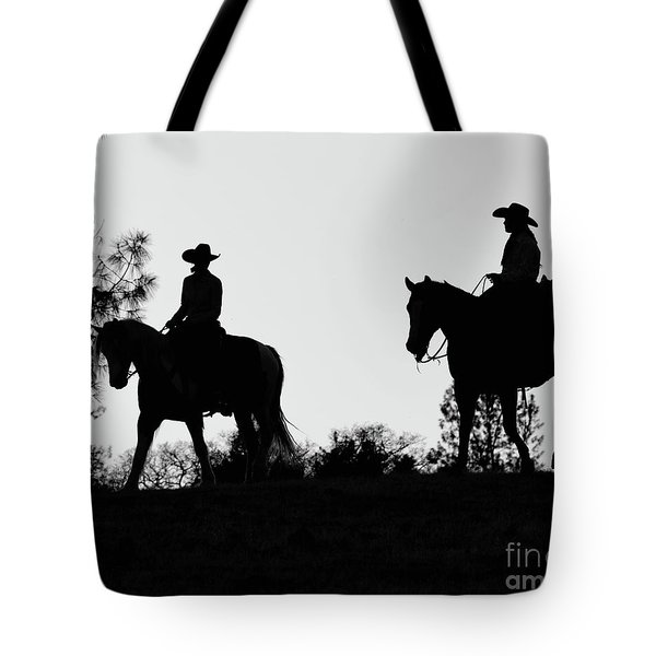 At Sunset On The Ranch Tote Bag