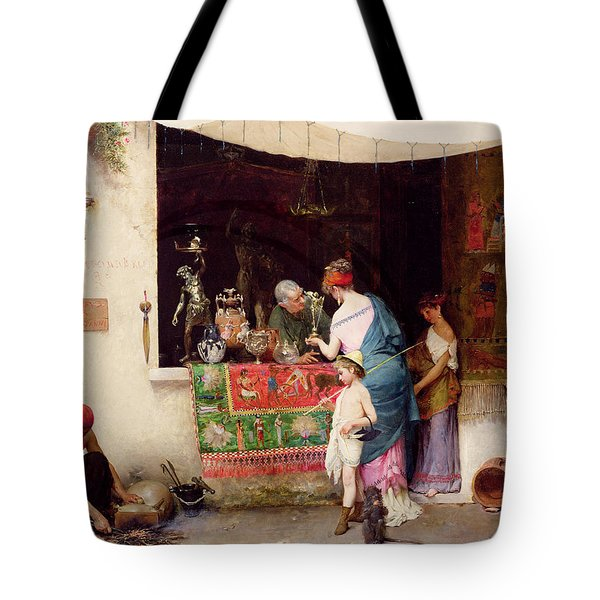 At The Antiquarian Tote Bag by Vitorio Capobianchi