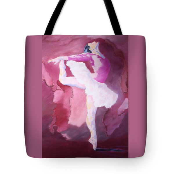 Tote Bag featuring the painting At The Ballet by Nancy Jolley