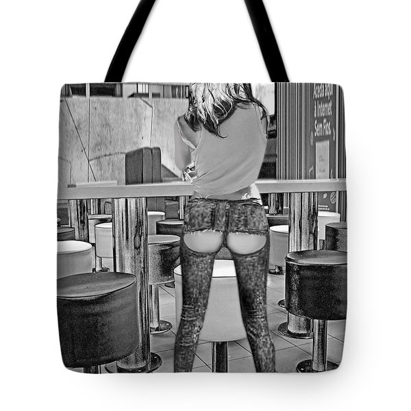 At The Bar Tote Bag by Emada Photos