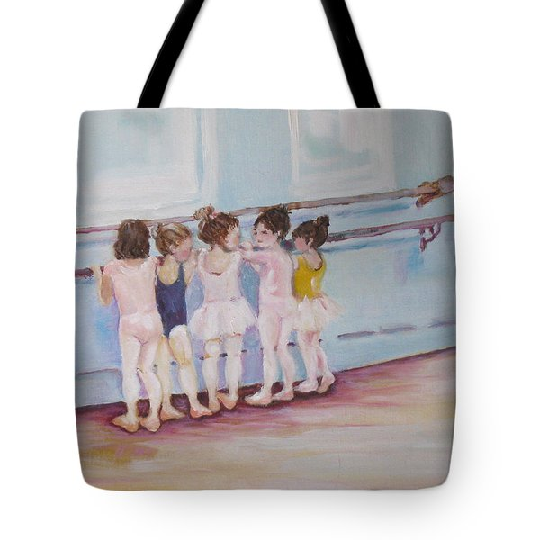 At The Barre Tote Bag by Julie Todd-Cundiff
