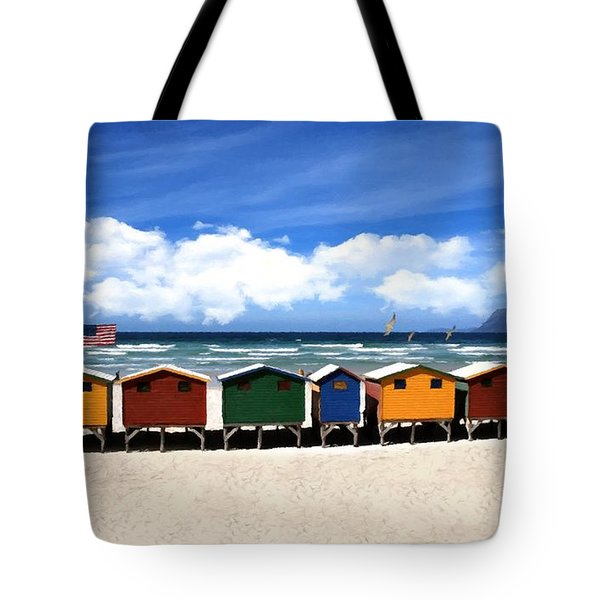Tote Bag featuring the photograph At The Beach by David Dehner