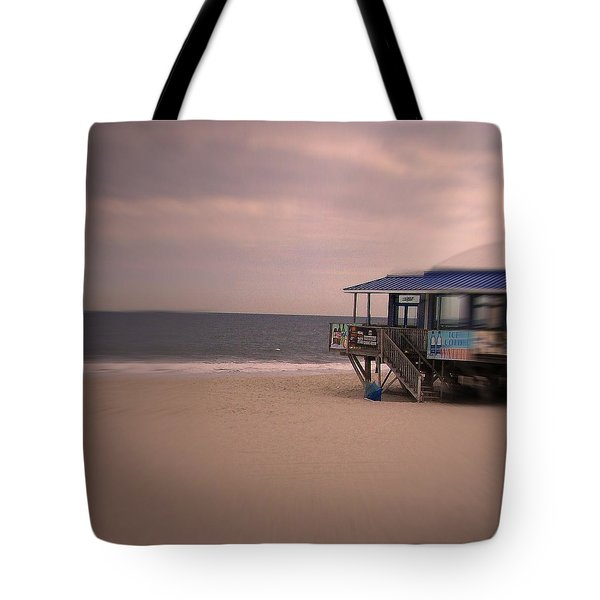 At The Beach Tote Bag by Desline Vitto
