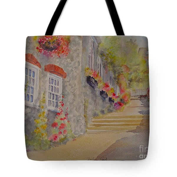 Tote Bag featuring the painting At The Bottom Of Church Hill Hythe Kent by Beatrice Cloake