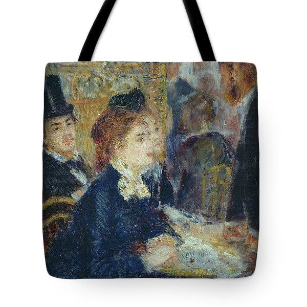 At The Cafe Tote Bag by Pierre Auguste Renoir
