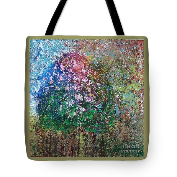 Tote Bag featuring the painting At The Corner by Corinne Carroll