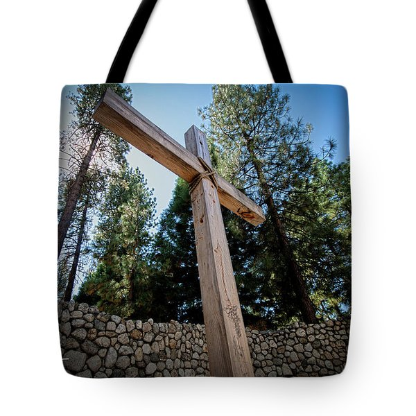 Tote Bag featuring the photograph At The Cross by T A Davies