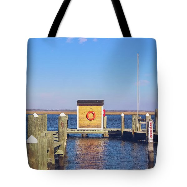 Tote Bag featuring the photograph At The Dock by Colleen Kammerer