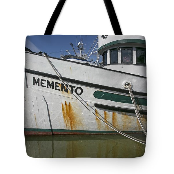 Tote Bag featuring the photograph At The Dock by Elvira Butler