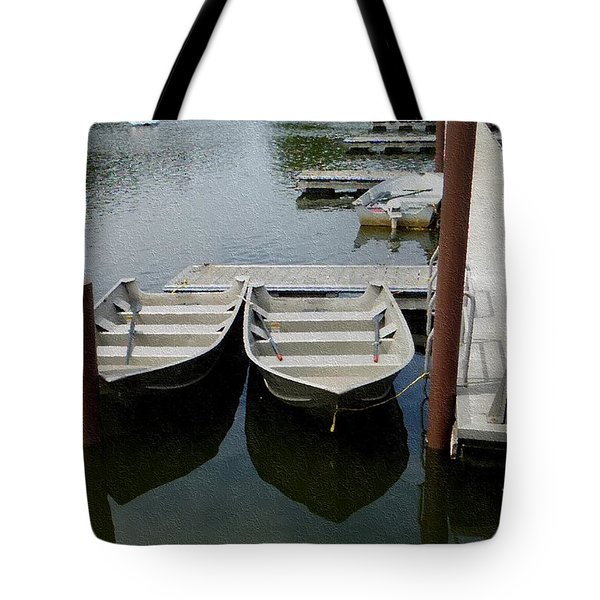 Tote Bag featuring the photograph At The Dock by Kathie Chicoine