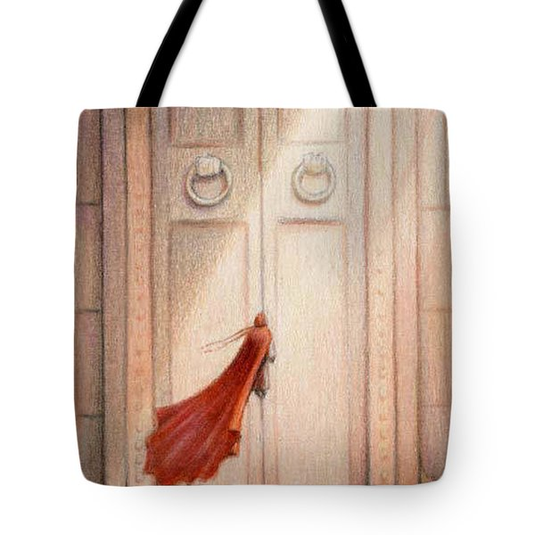 At The Door Tote Bag by Amy S Turner