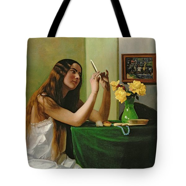 At The Dressing Table Tote Bag by Felix Edouard Vallotton