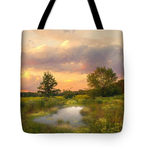 At The End Of The Day Tote Bag by John Rivera