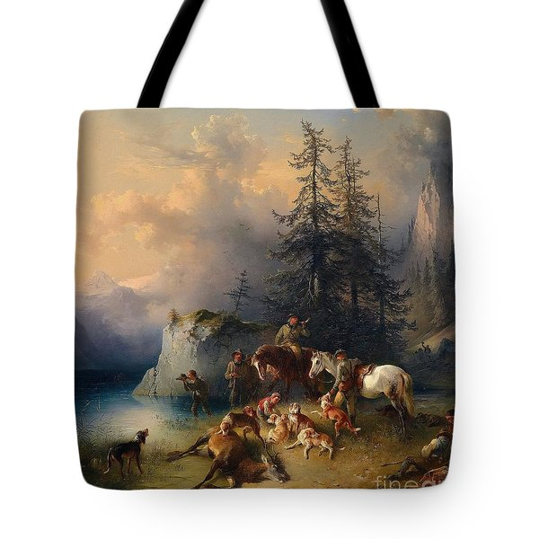 At The End Of The Hunt Tote Bag