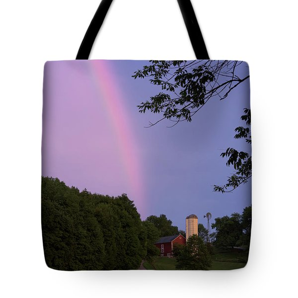 At The End Of The Rainbow Tote Bag by Nicki McManus
