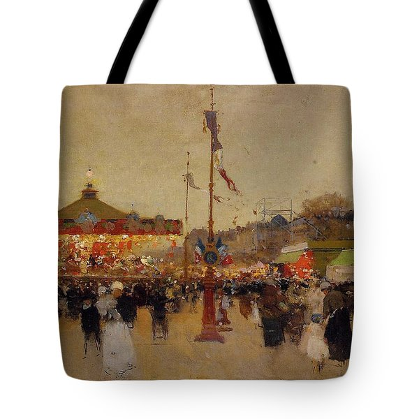 At The Fair  Tote Bag by Luigi Loir
