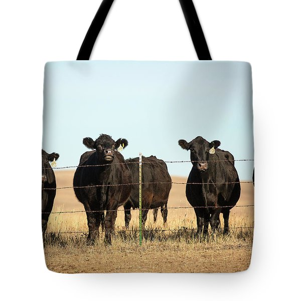 At The Fence Tote Bag