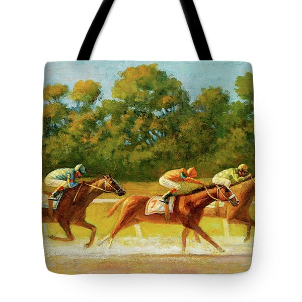 At The Finish Line Tote Bag