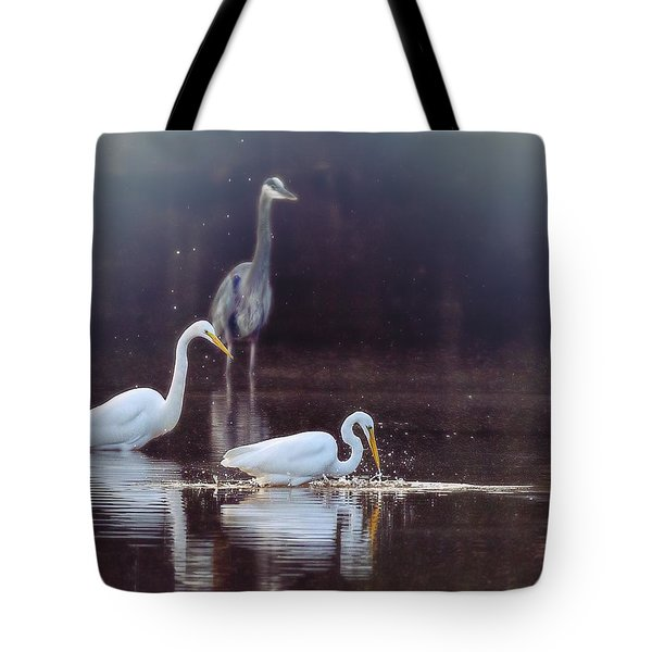 At The Fishing Pond Tote Bag by Susi Stroud