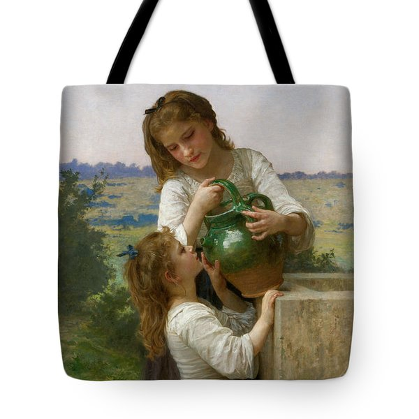 At The Fountain Tote Bag