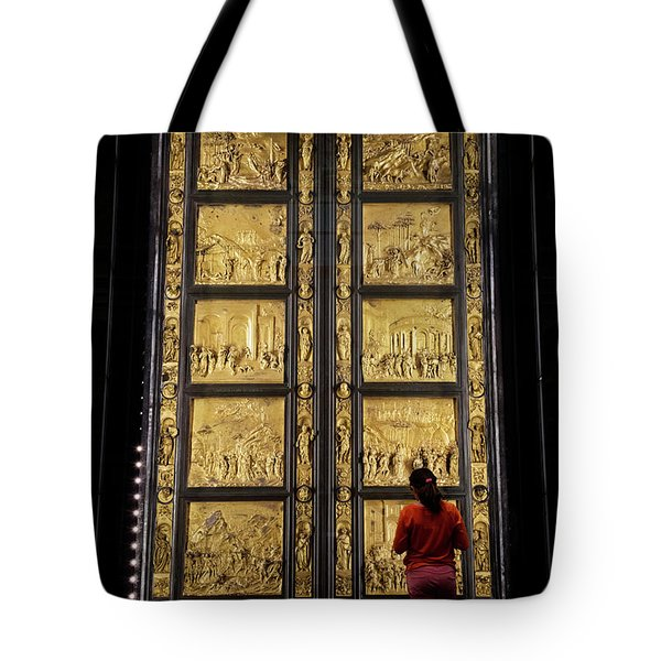 Tote Bag featuring the photograph At The Gates Of Paradise by Joan Carroll