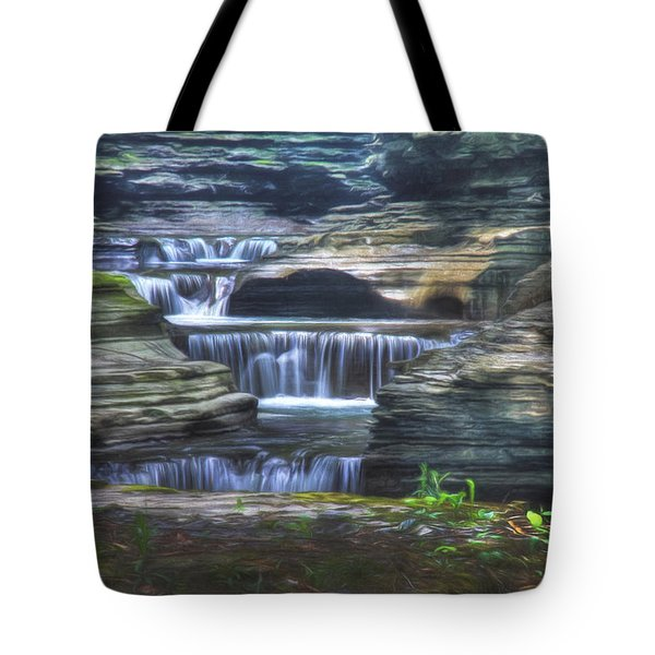At The Gorge Tote Bag by Sharon Batdorf