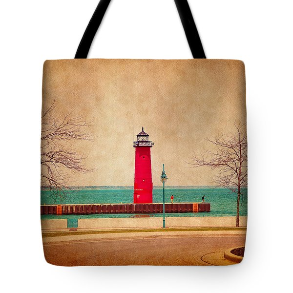 At The Harbor Tote Bag