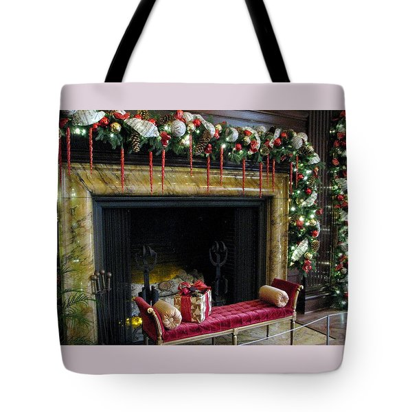 At The Hearth Of Christmas Tote Bag by Angela Davies