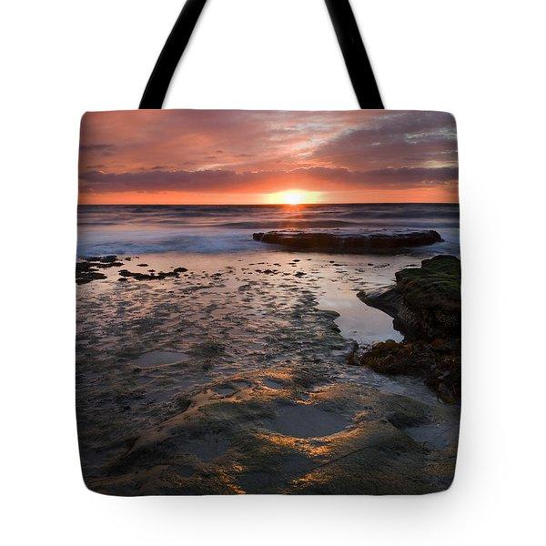 At The Horizon Tote Bag by Mike  Dawson