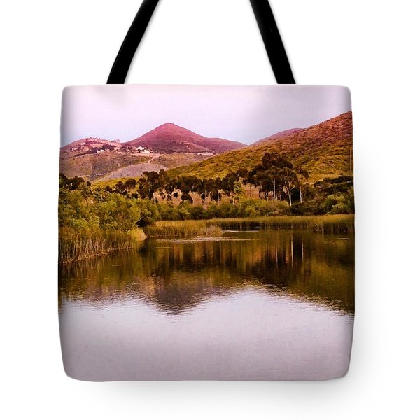 At The Lake Tote Bag